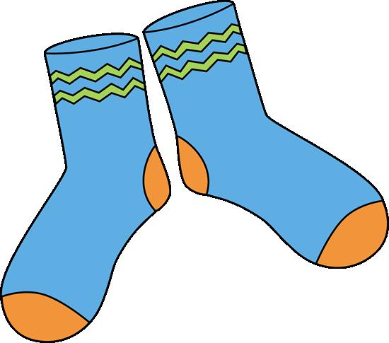 Pair of Blue Socks - Clip Art Socks