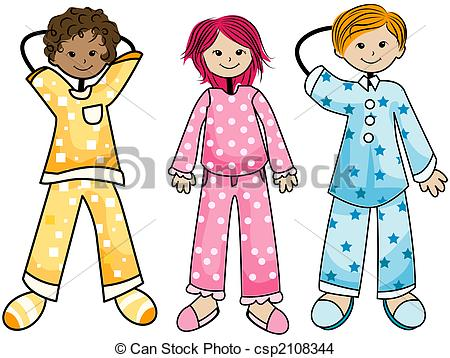 Pajama Kids With Clipping Path-Pajama Kids with Clipping Path-4