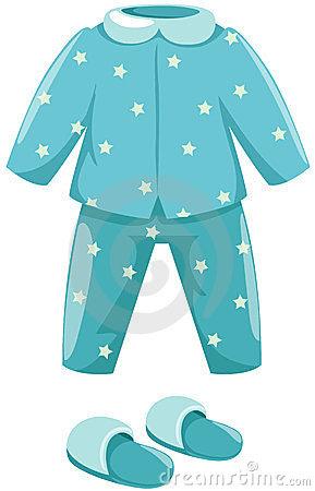 Pajamas Clip Art. Ilustraci N De Pijamas-Pajamas Clip Art. Ilustraci N De Pijamas Aislados Con El Deslizador En El Fondo Blanco-9