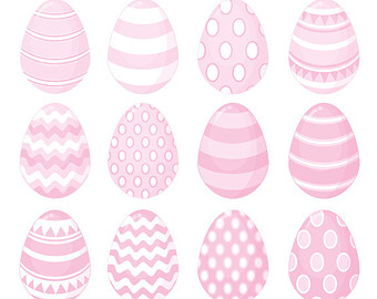 Pale Pink Easter Egg Clip Art.