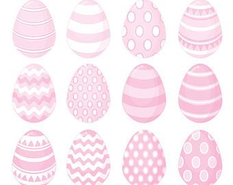 Pale Pink Easter Egg Clip Art.-Pale Pink Easter Egg Clip Art.-6