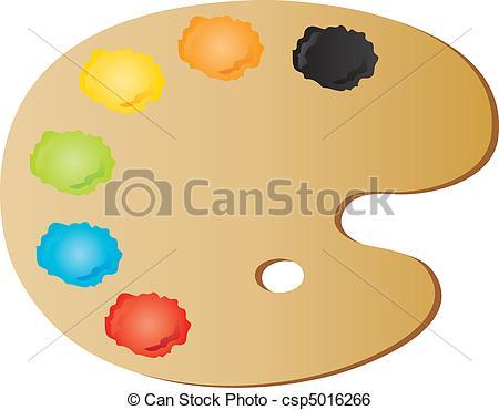 Palette, paintbrush and canvas Clip Artby antkevyv15/2,960; painteru0026#39;s palette - vectors illustration shows the painteru0026#39;s... ...