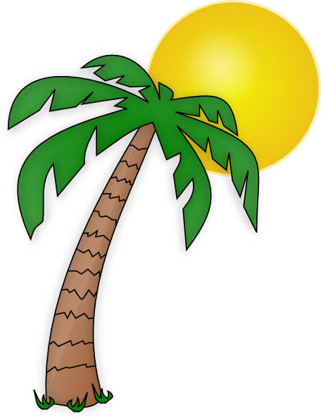 palm tree beach clipart