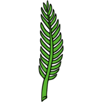 Palm Leaf Branch Clipart #1
