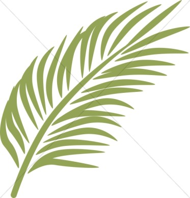Palm Sunday Clipart Palm . - Palm Leaf Clipart