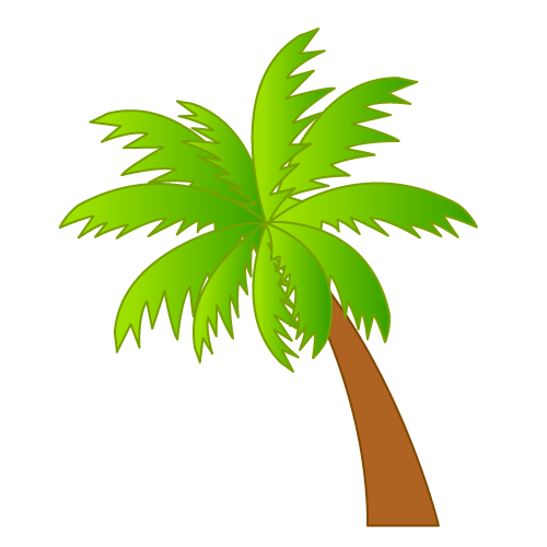 Palm tree art tropical palm trees clip 2 clip art 6