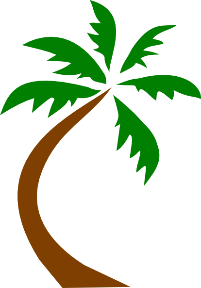 Palm tree clip art transparent background free