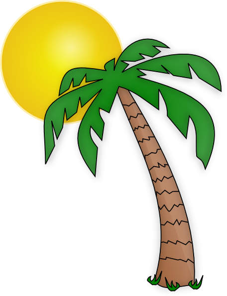 Palm tree clipart 3