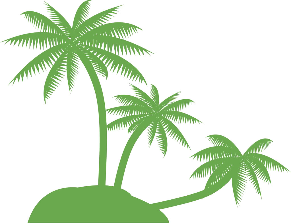 Palm Tree Clipart Beach Clip  - Coconut Tree Clipart