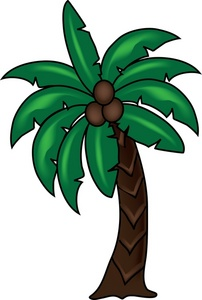 Palm Tree Clipart Image Tropical Coconut Palm Tree Icon Clipart