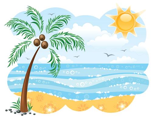 palm tree clipart u0026middot; scene clipart