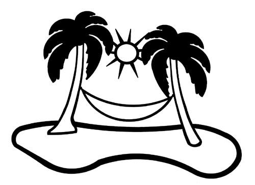 Palm Tree Hammock Clip Art-Palm Tree Hammock Clip Art-16
