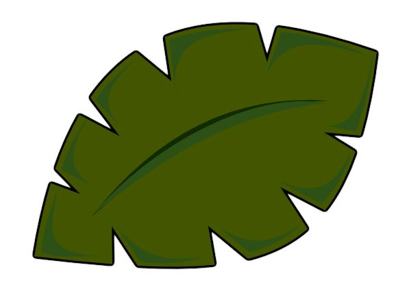 Palm Tree Leaf Template | Leaf clip art - vector clip art online, royalty free