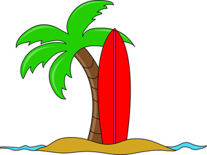 Palm tree surfboard clipart clipart kid