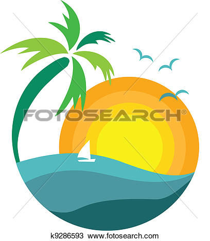palm tree with sunset view