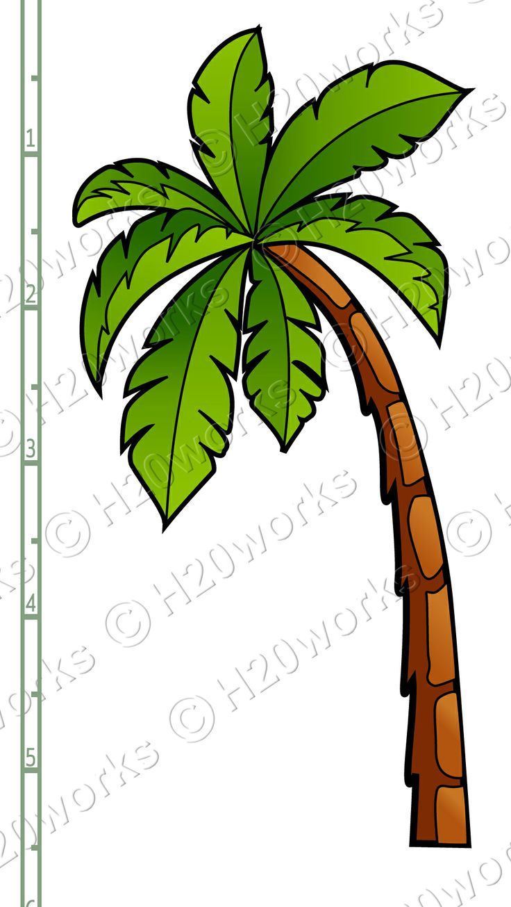 palm trees clip art | ... Sheet - Starfish, Sun, Palm Tree