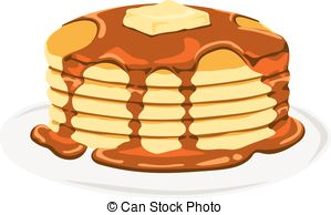... Pancake - Isolated vector delicious pancake with maple syrup.