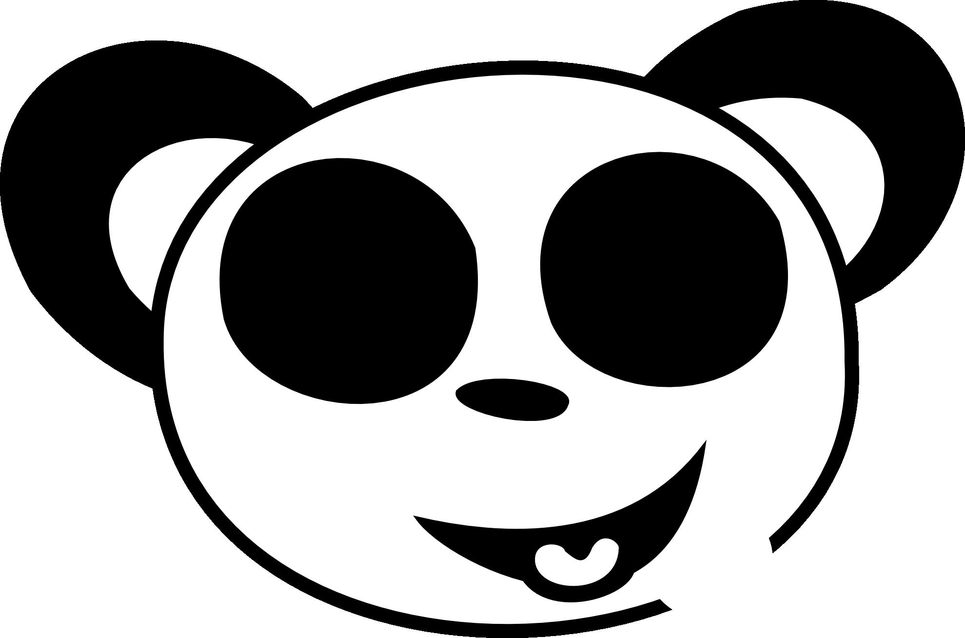 Panda Clipart Black And White-panda clipart black and white-8