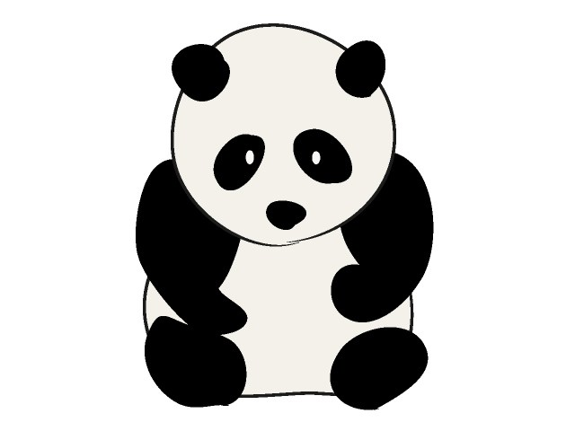 Panda free graphics clipart childrens book