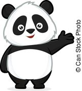 ... Panda in welcoming gesture - Clipart picture of a panda.