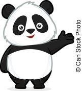 ... Panda in welcoming gesture - Clipart-... Panda in welcoming gesture - Clipart picture of a panda.-10
