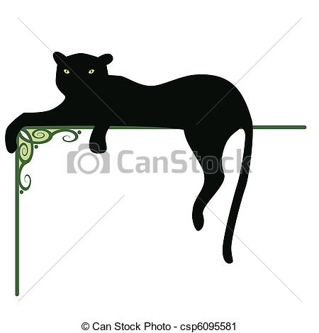 ... panther - banner with the black pant-... panther - banner with the black panther and pattern for... panther Clipartby ...-10