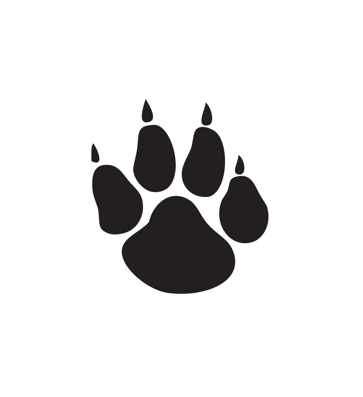 ... Panther Paw Print Clip Art ...