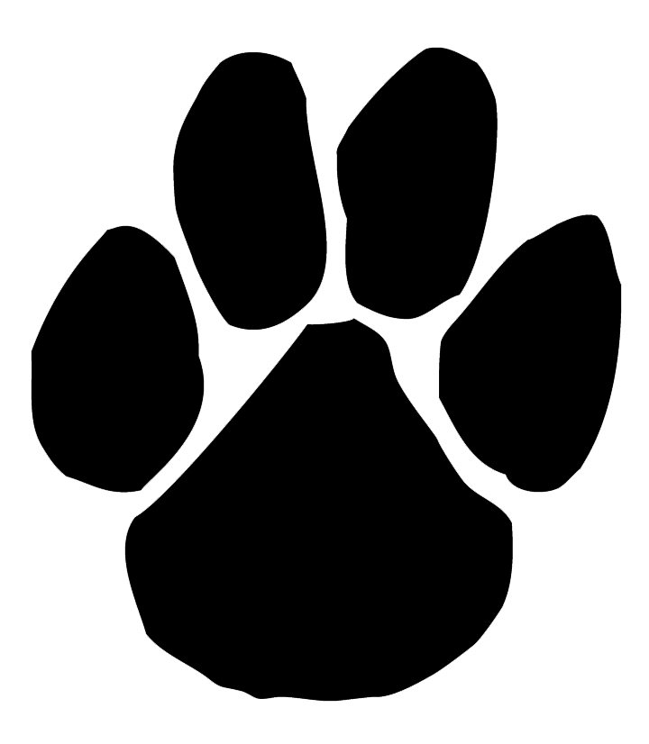 ... Panther Paw Print Clip Art ...