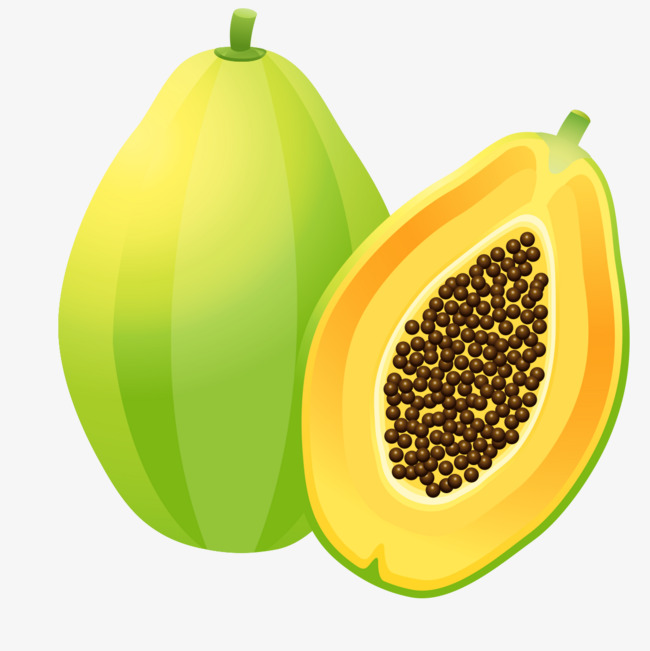 green papaya, Green, Fruit PNG Image and Clipart