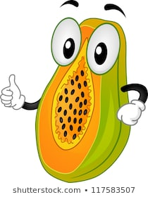 Mascot Illustration Featuring a Papaya Doing a Thumbs Up