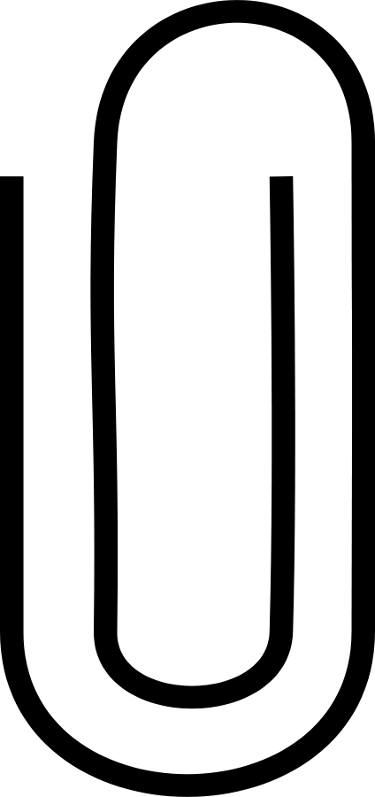 paper clip clipart black and white-paper clip clipart black and white-4