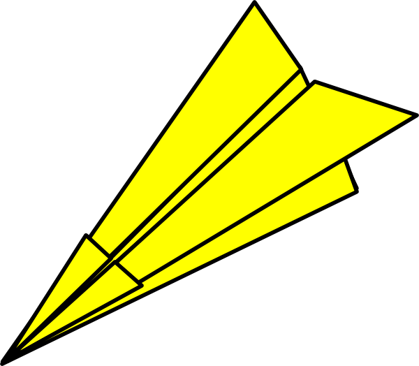 Paper Airplane Clipart u0026middot; Yell-Paper Airplane Clipart u0026middot; Yellow Paperplane At Vector Online-14