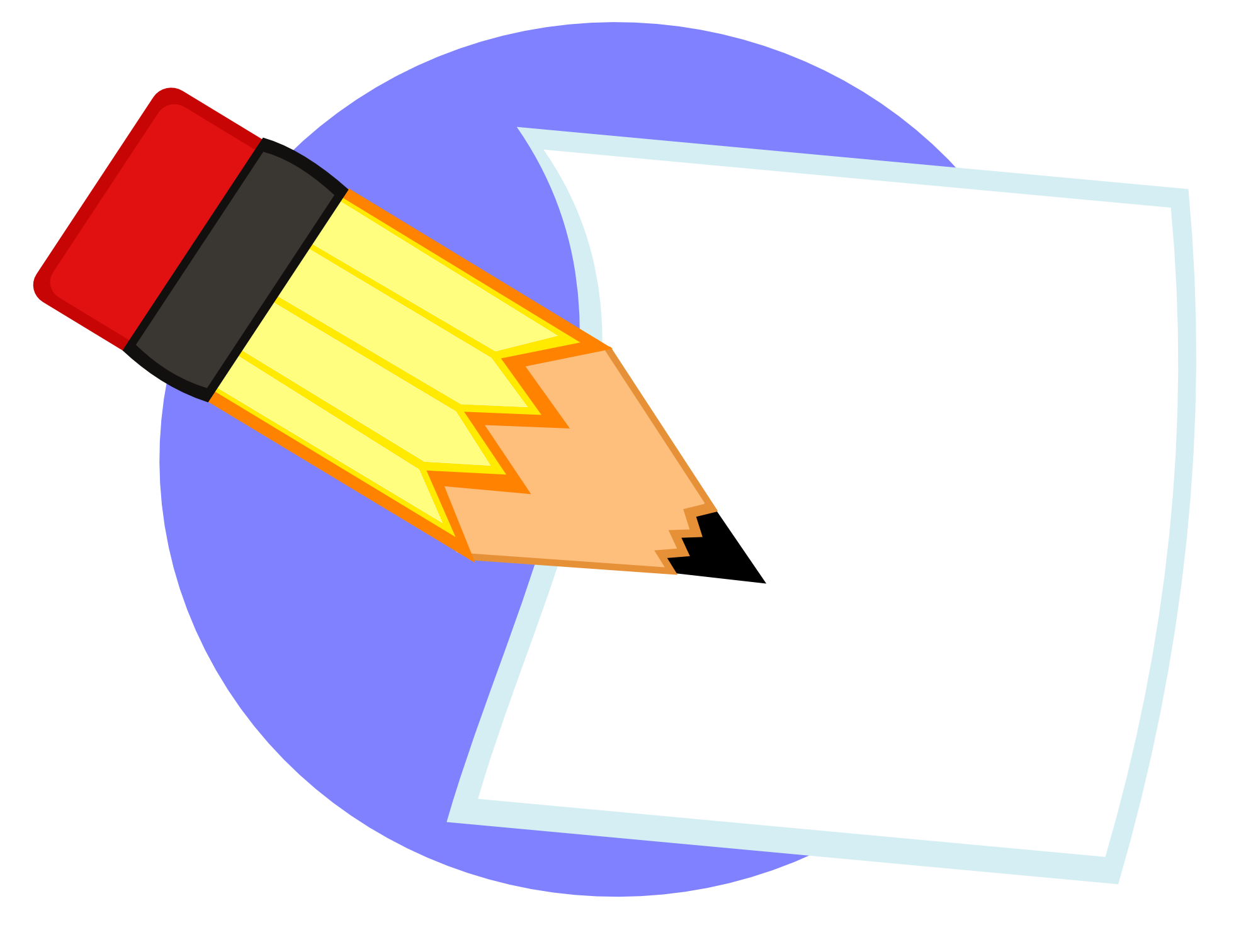 Paper And Pencil Clipart Dtre - Pencil And Paper Clip Art
