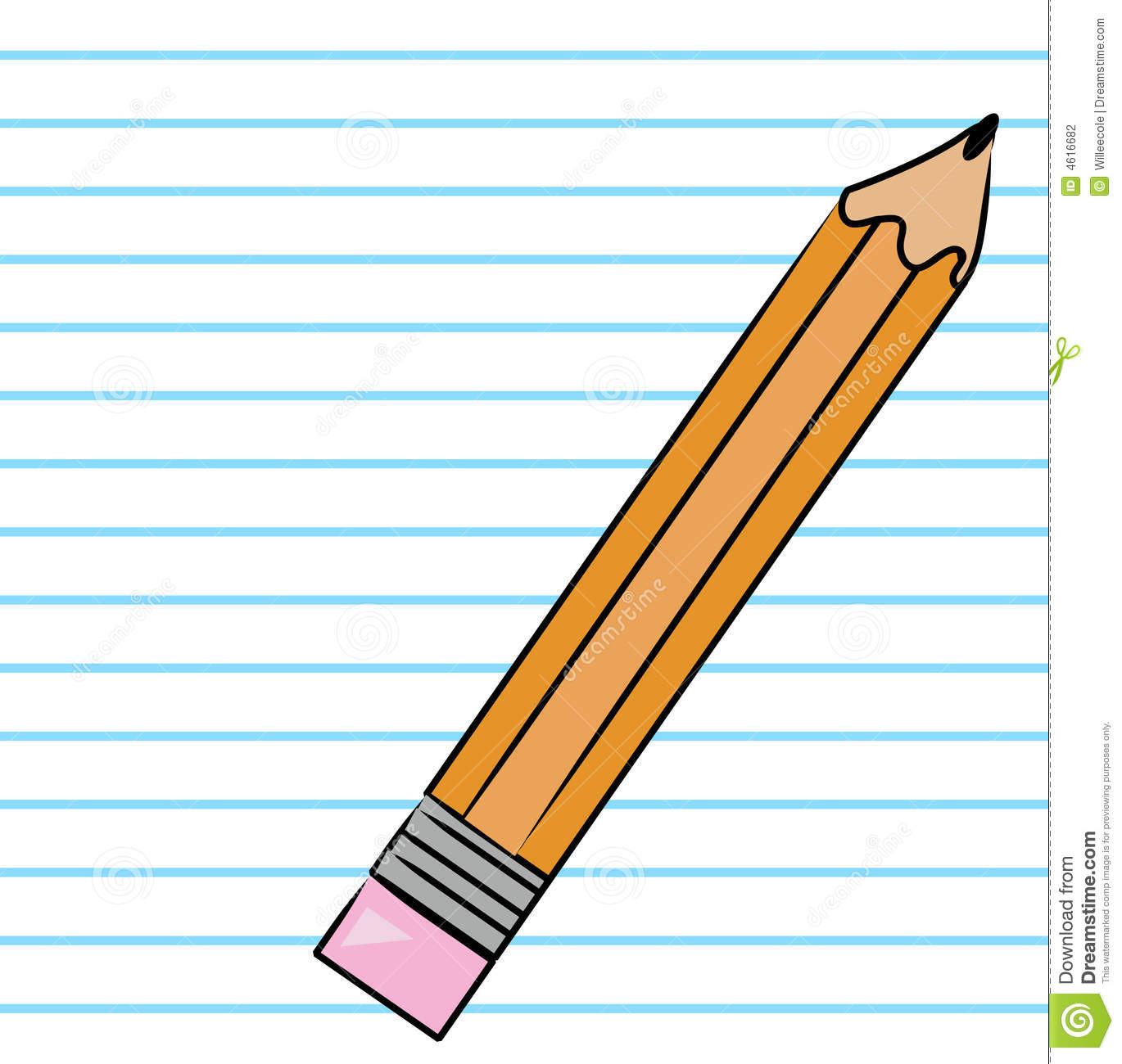 Paper And Pencil Clipart .