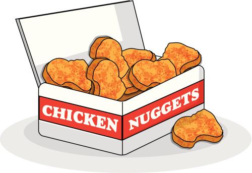 Paper Box Chicken Nuggets . - Chicken Nuggets Clipart