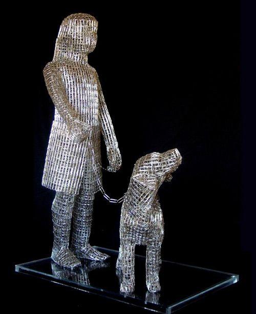 paper clip sculpture pietro Pietros Paper Clip and Thumbtack Sculptures