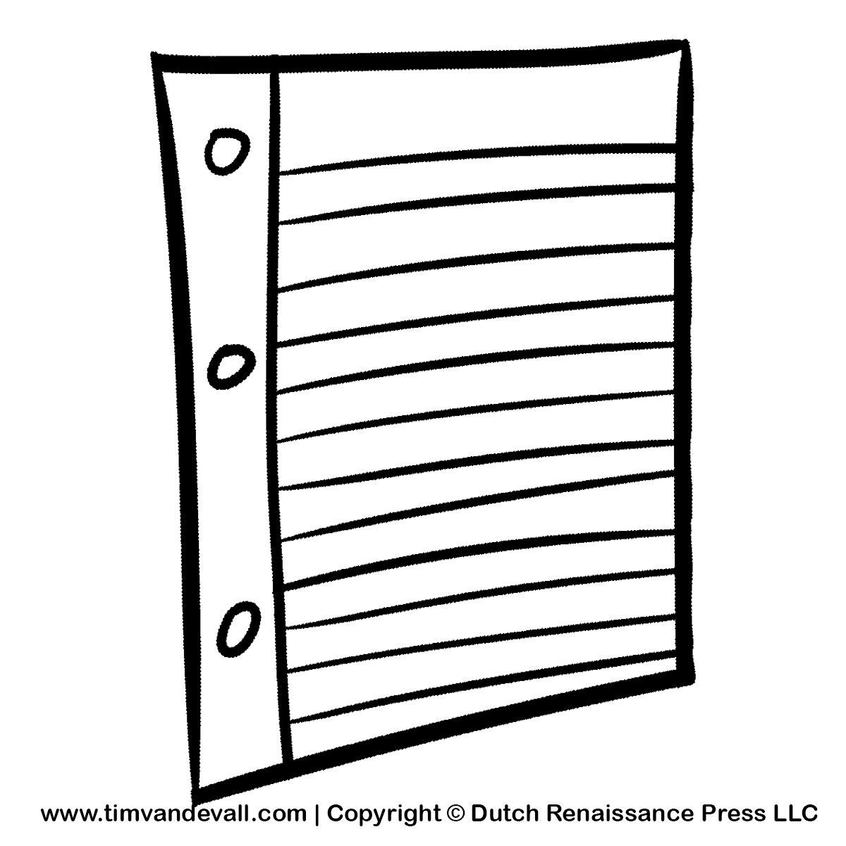 Paper Clipart Black And White Notebook Paper Clipart