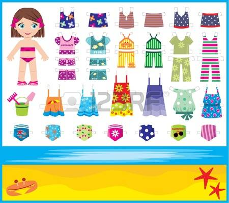 Paper Doll: Paper Doll With Summer Set O-Paper doll: Paper doll with summer set of clothes Illustration-14