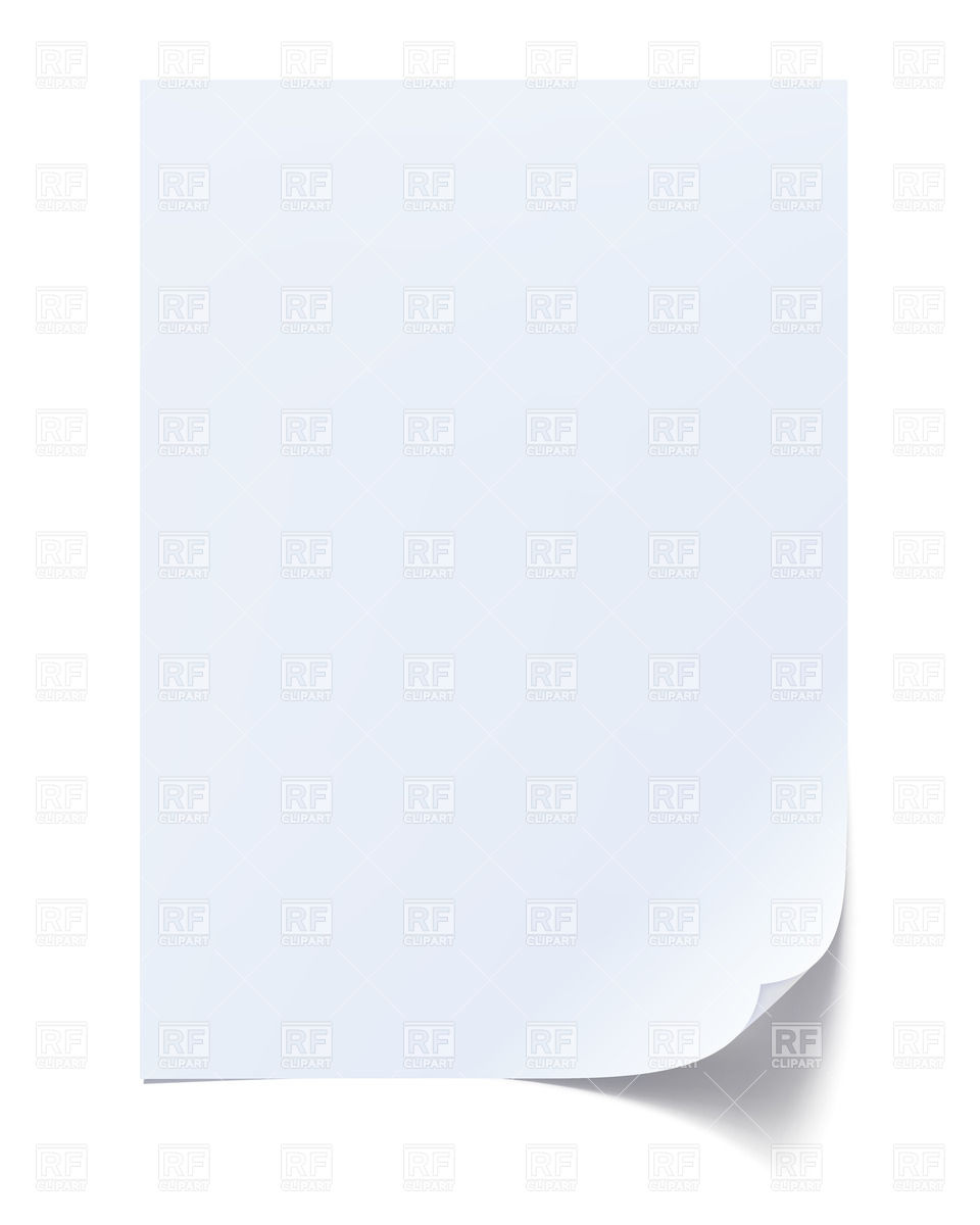 Blank sheet of paper Royalty Free Vector Clip Art
