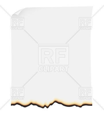 Burning paper sheet, 24969, download royalty-free vector vector image ClipartLook.com