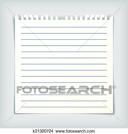 Clipart - Note paper sheet with lines. Fotosearch - Search Clip Art,  Illustration Murals