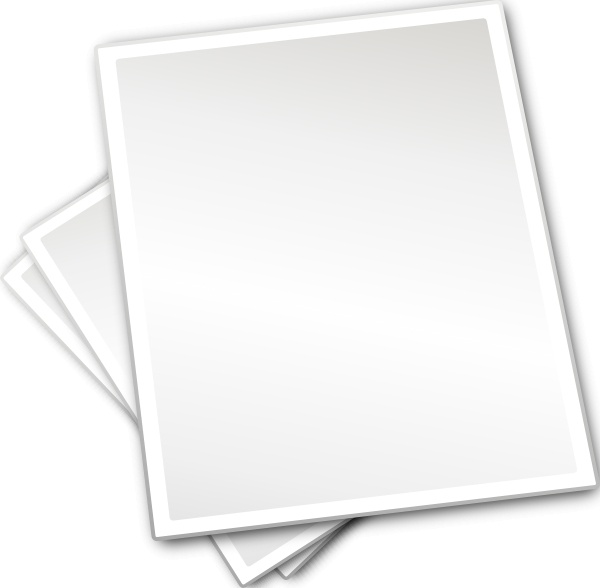 Plain Printing Paper Sheets clip art-Plain Printing Paper Sheets clip art-2