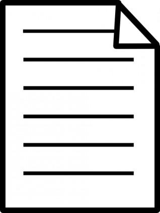 sheet paper clipart