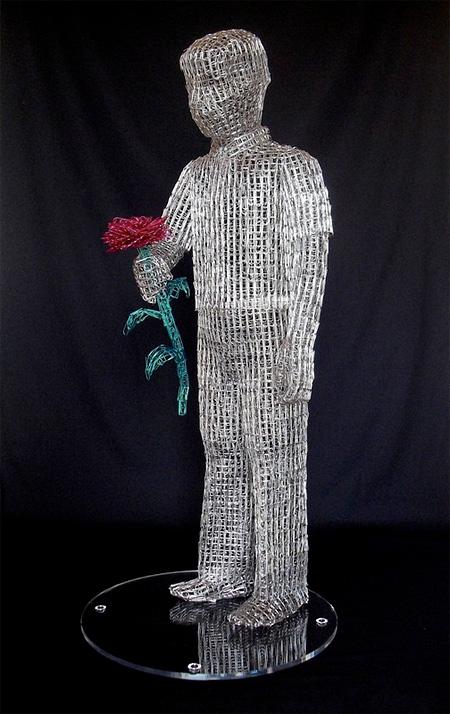 Paperclip Sculpture By Pietro DAngelo-Paperclip Sculpture by Pietro DAngelo-15