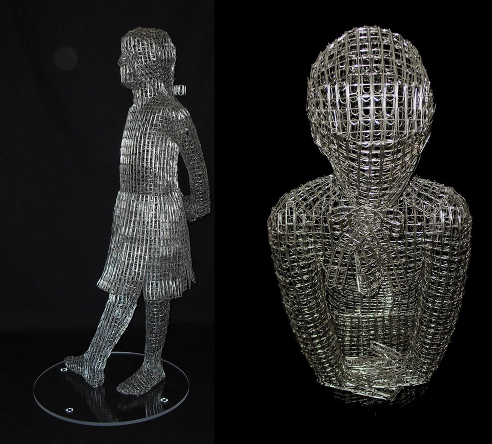 Paperclip Sculptures pop out