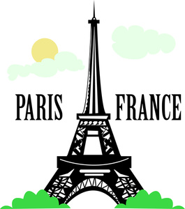 Paris Clipart Image The Eiffel Tower In -Paris Clipart Image The Eiffel Tower In Paris France With The Text-4
