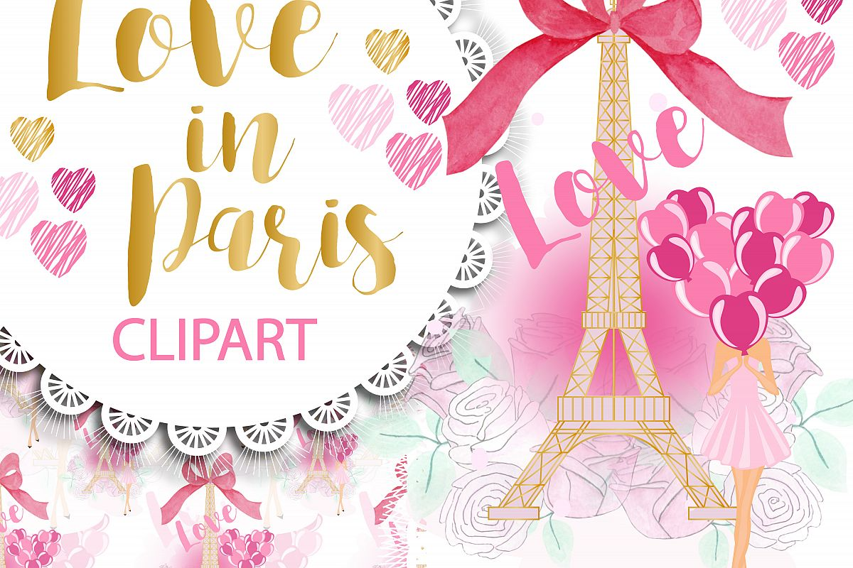 Love in Paris Clipart Png example image