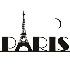 Paris Clipart Paris Eiffel Tower France -Paris Clipart Paris Eiffel Tower France Wall Art Sticker Wall Decal-13