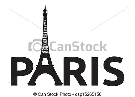 Paris - Eiffel Tower retro card - csp15265150