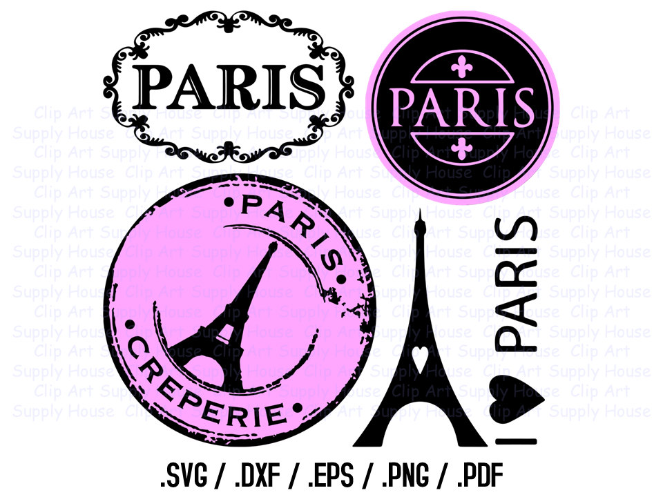 Paris Clipart, Paris SVG Files, I Love P-Paris Clipart, Paris SVG Files, I Love Paris Clipart, Parisian Silhouette Files, Paris Cricut, Paris Silhouette File, French SVG - CA212-17